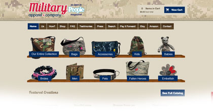 Military Apparel Company's website